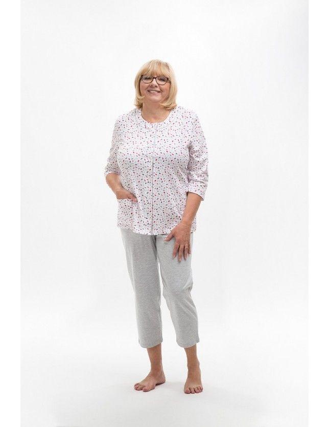 Plus size pamut pizsama Maria II 201 3/4 3XL-4XL