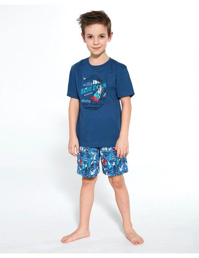 Rövid fiú pizsama 789/96 Blue Dock kr/r 86-128