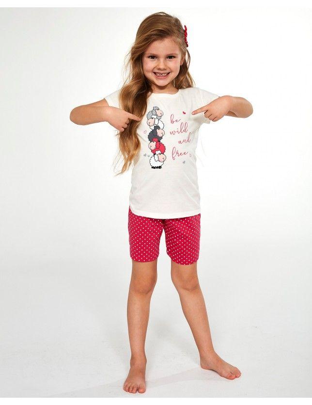 Sortos kislány pizsama 787/82 Be Wild kr/r 86-128