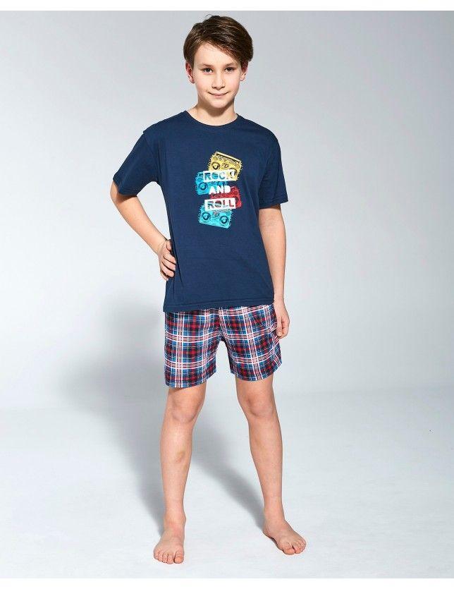 Pamut pizsama szett Young Boy 790/91 Rock kr/r 134-164