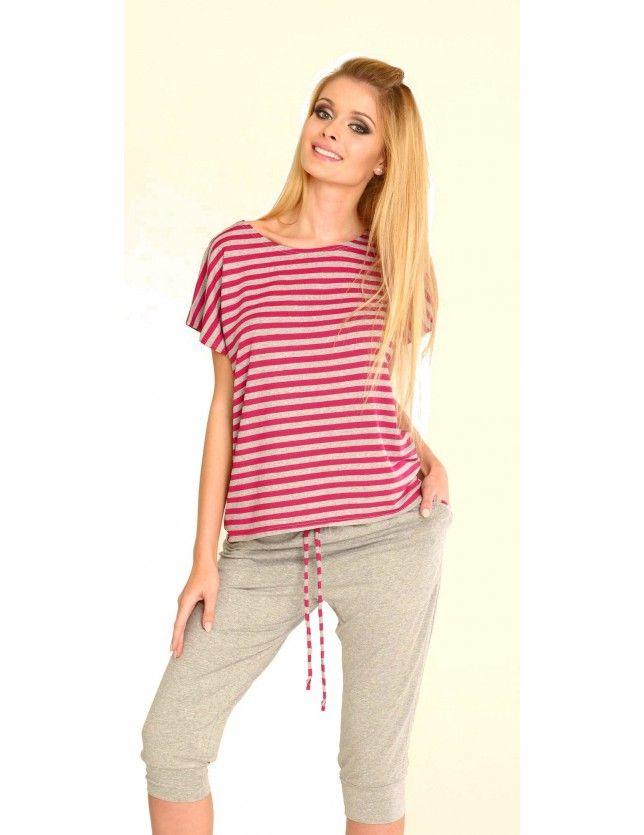 Csíkos női pizsama szett 540 Jovite kr/r S-2XL