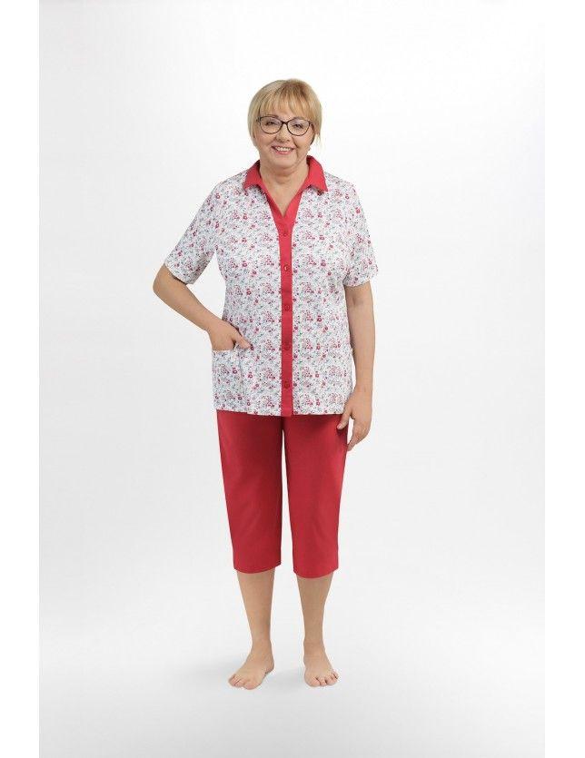 Nagyméretű gombos női pizsama I 205 kr/r 3XL-4XL