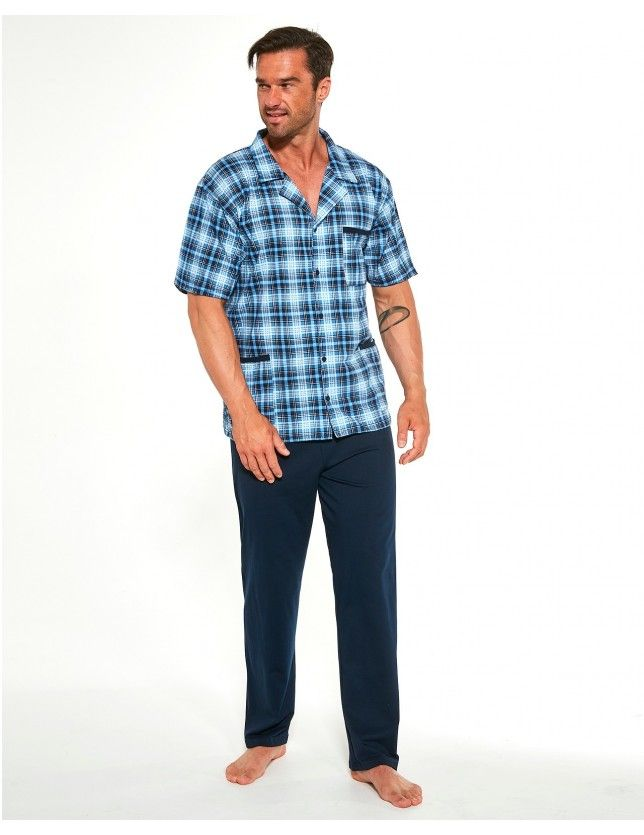 Klasszikus férfi pizsama szett  318/42 kr/r S-2XL