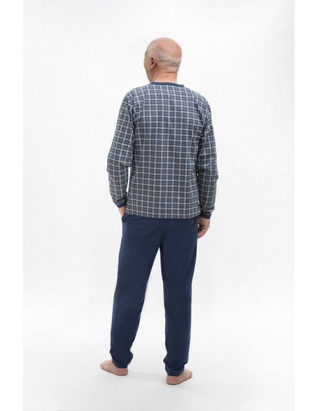 Kockás férfi pizsama 402 Roman M-2XL
